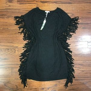 Ya Los Angeles | Black Fringe Tunic